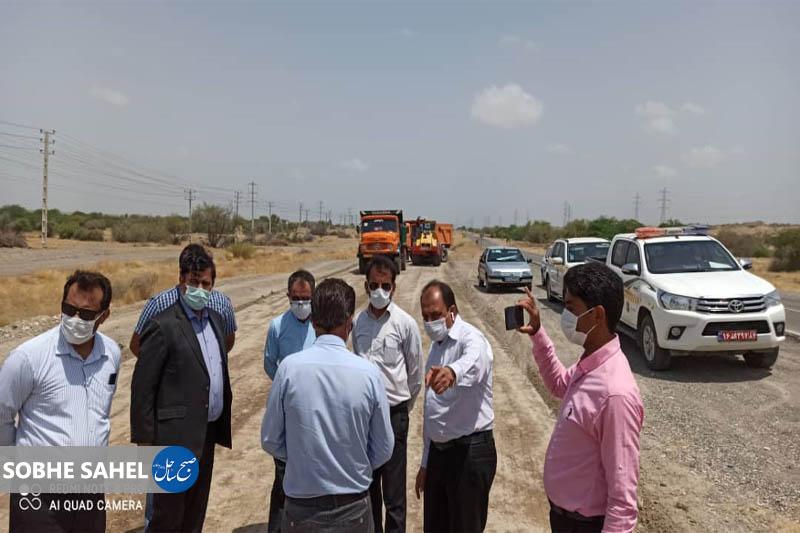 معاون اداره کل راهداری و حمل و نقل جاده ای از پروژه های در دست اقدام شرق استان بازدید کرد