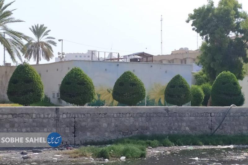 کاری از فضای سبز شهرداری بندرعباس  در پارک نونهالان