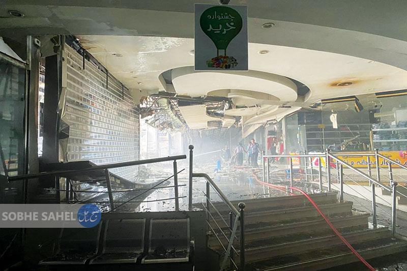 اتصالی برق 40 مغازه  را به آتش کشید
