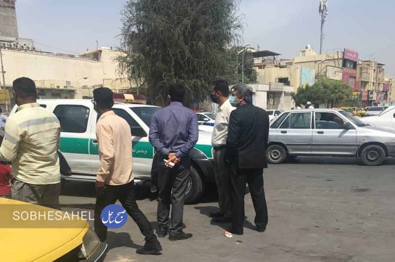 اعتراض رانندگان تاکسی در بندرعباس