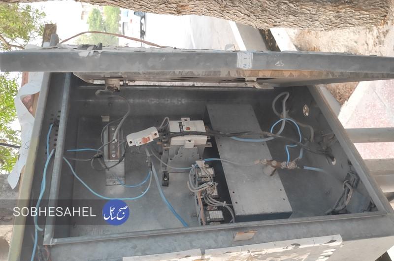 وضعیت خطرناک تابلوهای برق در سطح شهر بندرعباس