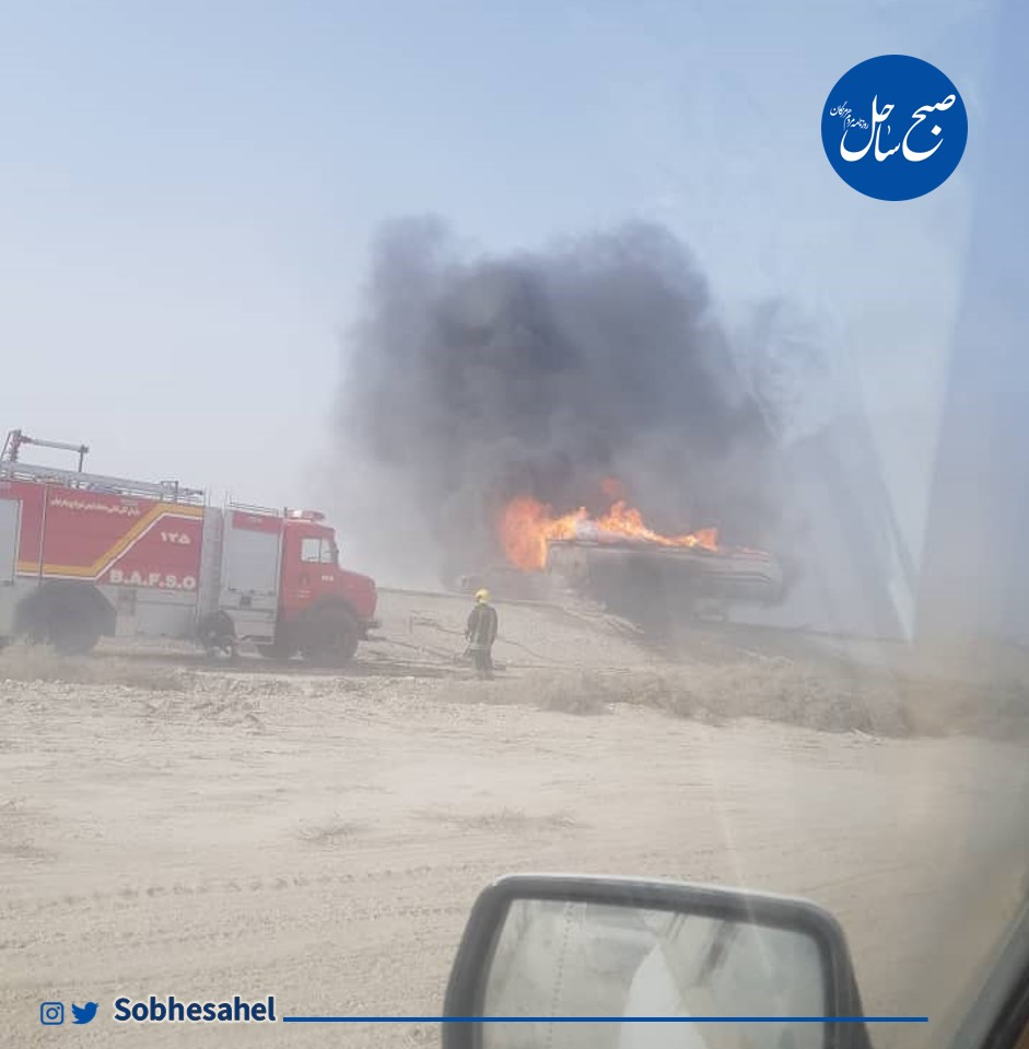 مرگ دلخراش سرنشینان تیبا پس از برخورد با کامیون نفتکش