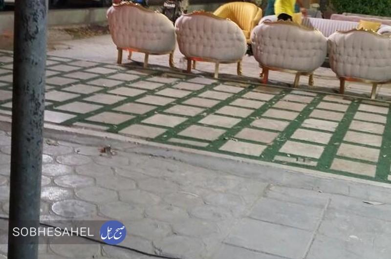 گلایه یک شهروند بندرعباسی از سد معبر پیادهرو